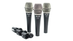 CAD 3 Pack of D38 Supercardioid Dynamic Instrument Microphones