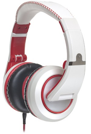 CAD MH510W Closed-back Studio Headphones - White/Red - Two Cables, Two Sets Earpads