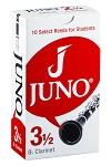 JUNO Bb Clarinet, Box of 10 reeds, #3.5