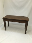 Walnut Piano Bench with Spade Foot Legs