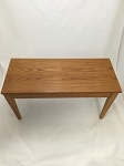 Oak Piano Bench with Square Legs