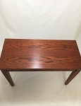 Red Oak Piano Bench with Square Legs