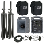 VM-2 Dual Deluxe Body-Pack, Headset package with companion speaker