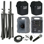 VM-2 Deluxe PGX Body-Pack, Headset package with companion speaker