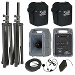 VM-2 Deluxe 123-channel Body-Pack, Headset package with comp speaker