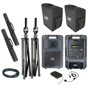 Sound Projections SM-5 Deluxe wireless headset, and CD/MP3 pkg w/companion speaker