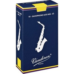 Vandoren Alto Sax Traditional Reeds Strength #2; Box of 10