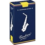 Vandoren Alto Sax Traditional Reeds Strength #2.5; Box of 10
